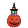 120cm Halloween inflatable pumpkin with witch inside