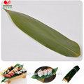 alimentos bambu acessórios cortado folhas de bambu