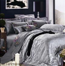 2014 new designs ,poly/cotton jacquard bedding sets/duvet sets/bed linen