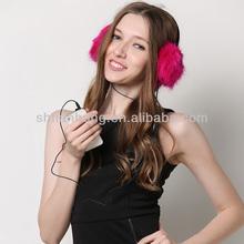 lady fashion winter knit custom earmuffs