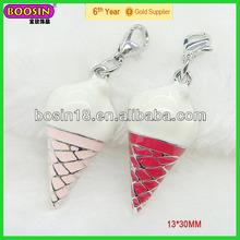 Alibaba express enamel ice cream cone pendant unique jewelry (13032)