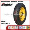 High quality 350-8 rubber wheel, 350-8 pneumatic rubber wheel, 3.50-8 rubber wheels