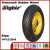 China rubber wheel,3.50-8 wheelbarrow pneumatic rubber wheels