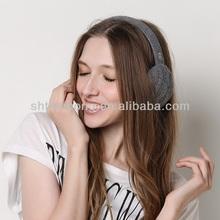 fashion lady knitted winter earmuff headphone