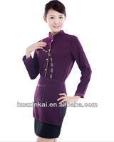 High class women uniform/hotel uniforms for waitress/attendant