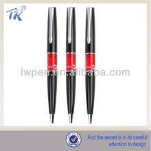 Client's Logo Black And Red Color Metal Ballpoint Pen