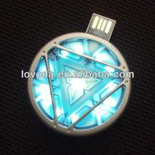 Avengers Series Iron Man Arc Reactor low cost mini usb flash drive/usb memory stick/usb flash drive no case LFN-056