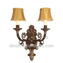 National Latest Modern Russia Solid Brass Wall Light With Fabric Shade/sexy music video
