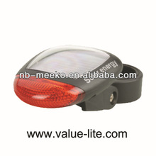 2 Red LED Bicycle Light bicycle lamp with solar panel
