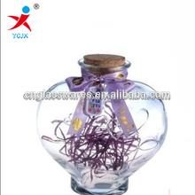 High quality 220ml glass lucky bottle for DIY gift