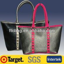Leather Woman Handbag Fashion Clear pvc zipper tote bags