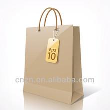 new style luxury kraft printed shopping paper bag