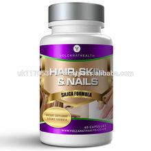 Silica Formula 500mg ( Hair, Skin and Nails ) Capsules Volcanat Health Premium Round Bottle