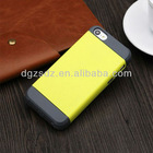 Protective slim armor blank phone case for iphone 5c/5s