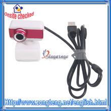 8 Mega Pixel Free Driver USB Webcam With Mic Fuchsia