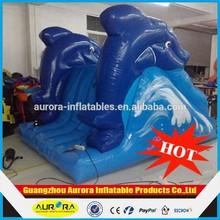 inflatable dolphins water slide/inflatable blue ocean water slide