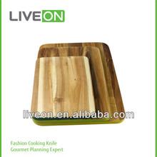 2014 LIVEON 3pcs Square Wood Cutting Board