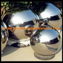 Mirror finish decorative hollow ball 6 inch steel ball