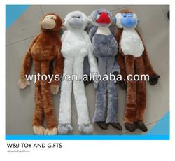 customized long legs and arms plush hanging stuffed monkey with wholesale stuffed monkey