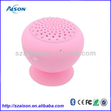 Funny portable waterproof shower bluetooth speaker, enable adsorb on wall and car