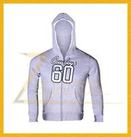 Wholesale Custom Men's Light or Heavy Weight Poly Cotton Zipper Up Hoodies Sweatshirts/Polar Fleece or Terry Fabric Jacket