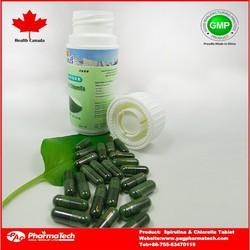 Herbal Supplement Spirulina & Chlorella hard capsule