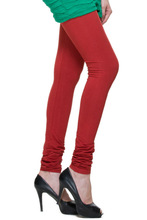 TSG Breeze Indian Churidar Premium Cotton Leggings- 108-New Rust Colour