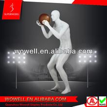 Lifelike basketball playing pose mannequin