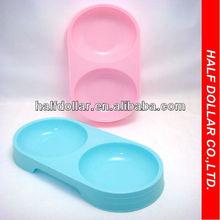 Double Pet Bowl Plastic Ceramic Pet Bowl Pet Product