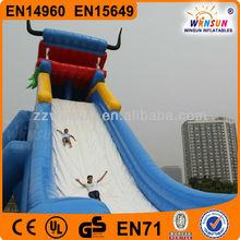 Hot sale commercial grade PVC Tarpaulin brand custom new design hippo inflatable water slide