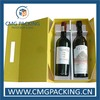 New style foldable paper wine box for two bottles