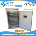 La parte superior 2014 vendiendo termostato digital y la humedad para la incubadora ai-1408 para carros de perros calientes 96 huevos de pollo incubadora del huevo