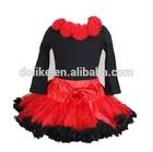 christmas ruffle chiffon pettiskirt fluffy cotton set girls princess skirt baby girl skirt set