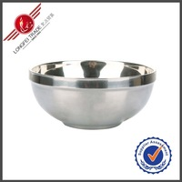 Wholesale Double Wall Stainless Steel Bowl/Mixing Bowl/Salad Bowl