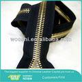 Fabrik niedrigsten preis großhandel 5# keine. 5 y licht vergoldete farbe metall reißverschluss für jeans/Schuhe/Stiefel/kleider
