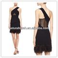 китай одеёда поставщиков, один- плечо черные короткие платья, платье для ёенщин( ydq04067)