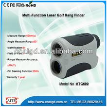 6*24 600m mini laser golf rangefinder and golf slope meter