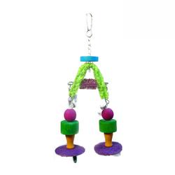 Food Color Loofah Parrot Bird Products LB222