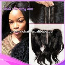 6A Stock 4*4 Virgin Brazilian Hair Straight Swiss Lace Top Closure 3 Way Part Closure Bleach Knots Virgin Brazilian Hair