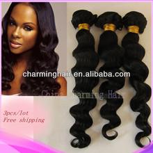 Brazilian Loose Wave virgin hair extensions perfect Mix Length 3pcs/lot natural color
