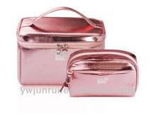 Smooth pu wholesale makeup bags set dark red makeup factory bags sets