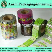 Custom printed plastic packing film roll automatic packaging film