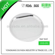 barware stainless steel serving tray 34.8CM diameter