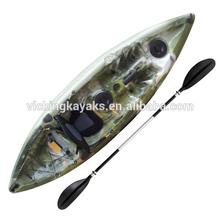Freestyle single fishing kayak wholesale fishing boat with 4 fishing rod holders