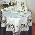 design flor bordada toalha de mesa