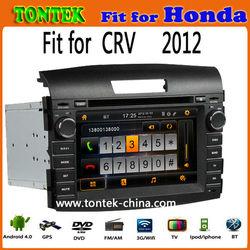 Android 4.0 2 din 8 inch gps dvd car multimedia for honda crv 2012