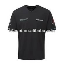 new arrival mens v neck printing black t shirt for sale