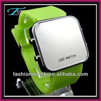 Big strap LED silicone watch, hot sale sport watch, High quality sports watch