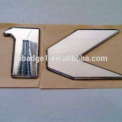 ABS chromed car logo emblem with adhesive tape