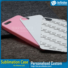 Glossy thermal transfer phone case for iPhone 5 with White Aluminum Sheet printed mobile phone case